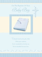 V106002 Baptism Boy Card