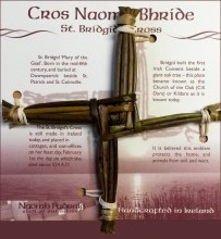 Medium St Brigids Cross on Card