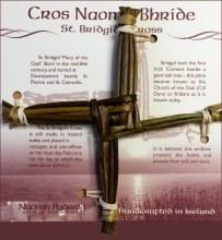 Medium St Brigids Cross on Card