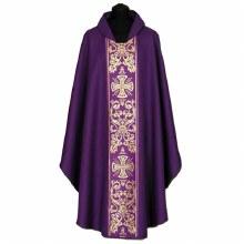 Purple Chasuble, Gold Printed cross symbols