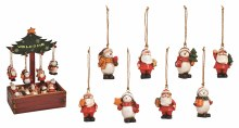 10012687 Snowman / Santa Christmas Decorations 6cm