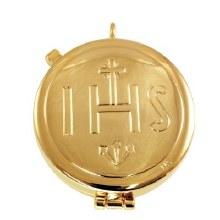 Gold IHS Pyx  (5.3cm Diameter)