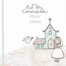 Girl First Holy Communion Photo Album - Church