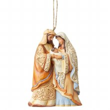 Heartwood Creek Holy Family hanging Ornament (10cm)