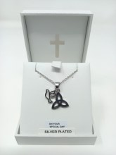 Silver Plated Confirmation Necklet with Dove