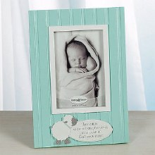 Green Little Lamb Baby Photo Frame