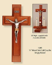Sick Call Set with Wooden Crucifix (28cm)