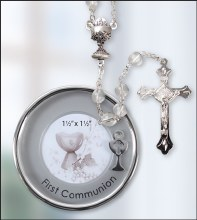 Crystal First Holy Communion Rosary Beads
