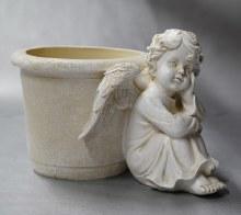 20503  Memorial Angel with Flower Pot  18cm