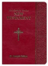 Saint Joseph NCV New Testament, burgundy