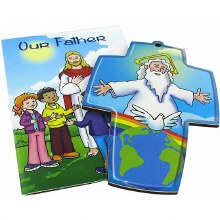 Our Father Childrens Booklet with Free Cross ( 9 x 13cm)
