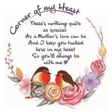 CHC002 Mothers Love Corner of My Heart Robin Card