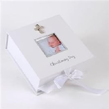 FW672T White and Silver Christening Day keepsake