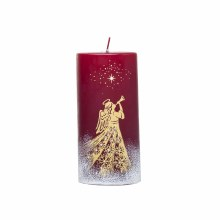 A1269 Gold and Red Christmas Angel candle 15 x 7