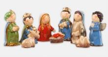 9 piece Ceramic Nativity Set