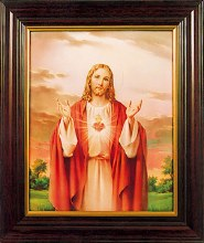 Sacred Heart Picture Framed (30 x 25cm)
