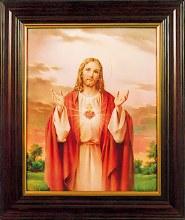 Sacred Heart Picture Framed (30 x 25cm)