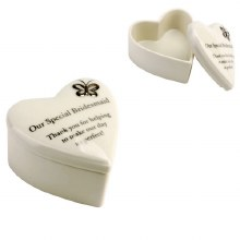 Amore Porcelain 'Our Special Bridesmaid' Trinket Box - Heart Shaped