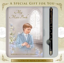 Boy First Holy Communion Set with Prayerbook