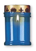Blue Light Memorial Candle