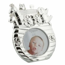 Silverplated Noah's Atk Baby Photoframe