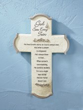 God Sees Every Tear Cross (25cm)