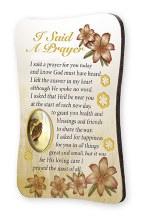 I Said A Prayer Wood Plaque Magnet