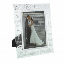 Mr and Mrs Wedding Photo Frame Gift