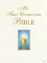 My First Communion Bible, white, padded, gilt