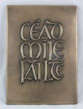 Cead Mile Failte Plaque Bronze