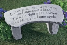 36020 If  Tears Could Build Memorial Bench