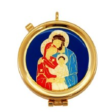 Blue Holy Family Pyx (12 hosts)