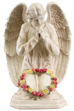 48576 Praying Flower Angel Grave Statue 60cm