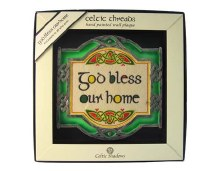 God Bless Our Home Square Plaque