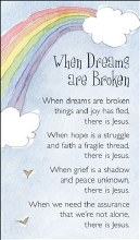 Rainbow When Dreams are Broken Prayercard