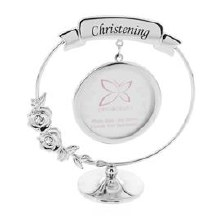 SP290 Crystocraft Christening Picture Frame
