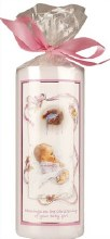 Baptism Candle With Baby Girl
