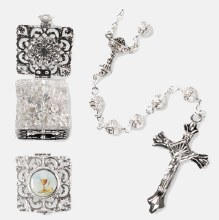 Filgree First Holy Communion Rosary Beads