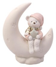 687727 Christmas Bear and Moon Decoration