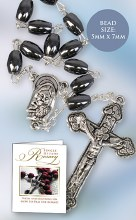Hematite Single Decade Rosary Beads