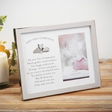 FH127COM First Holy Communion Frame with Verse
