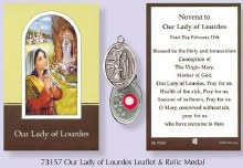 Novena to Our Lady of lourdes with relic medal