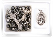 Hematite First Holy Communion Rosary Beads