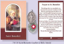 St Benedict Booklet and Relic Medal