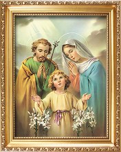 83274 Holy Family Gold Framed Picture 25 x20cm