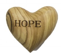 Hope Olive Wood Heart