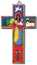 Traditional Good Shepherd Cross (10cm)