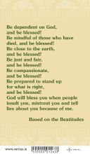 Be Blessed Prayer Card