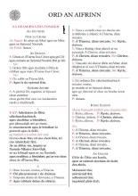 Ord An Aifrinn - Congregational Card
