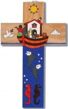 Noah's Ark Wooden Cross (40cm)